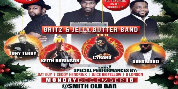 "[DEC 18th] Annual ""R and B Christmas"" Gritz N Jelly Butter * Tony Terry * Keith Robinson …"
